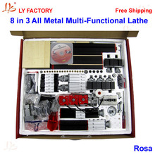 8 in 3 All Metal Multi-Functional Tool  Mini Lathe Machine for wood and Soft Metal