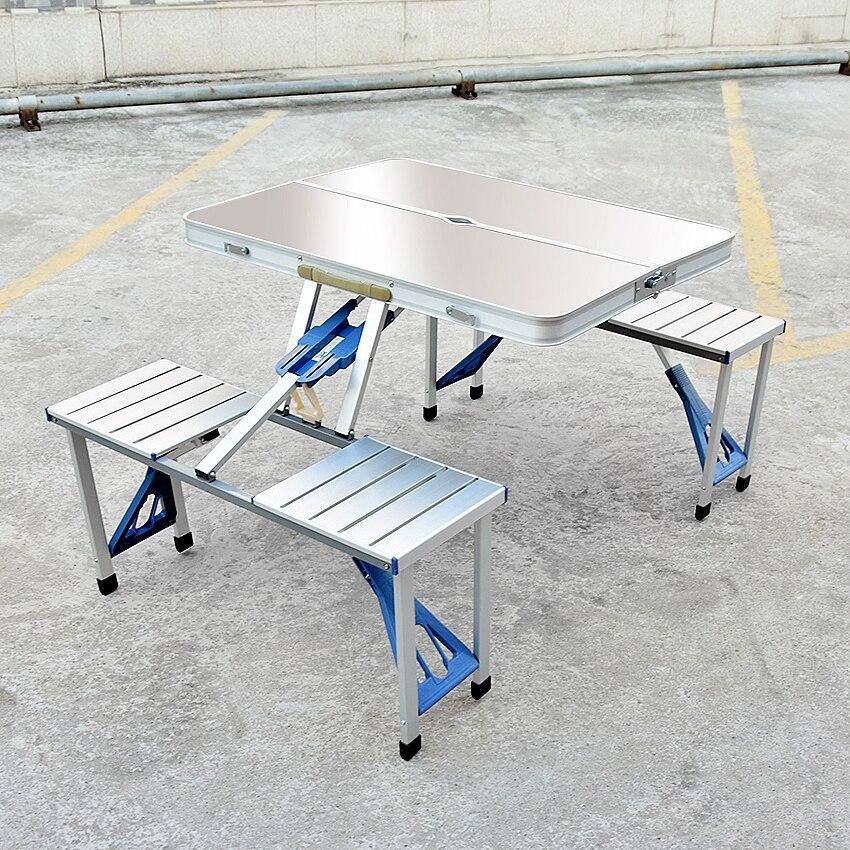 Multifonction Durable Portable Barbecue en plein air Camping en alliage d'aluminium Table pliante en plein air pique-nique Table à manger tabouret de bureau