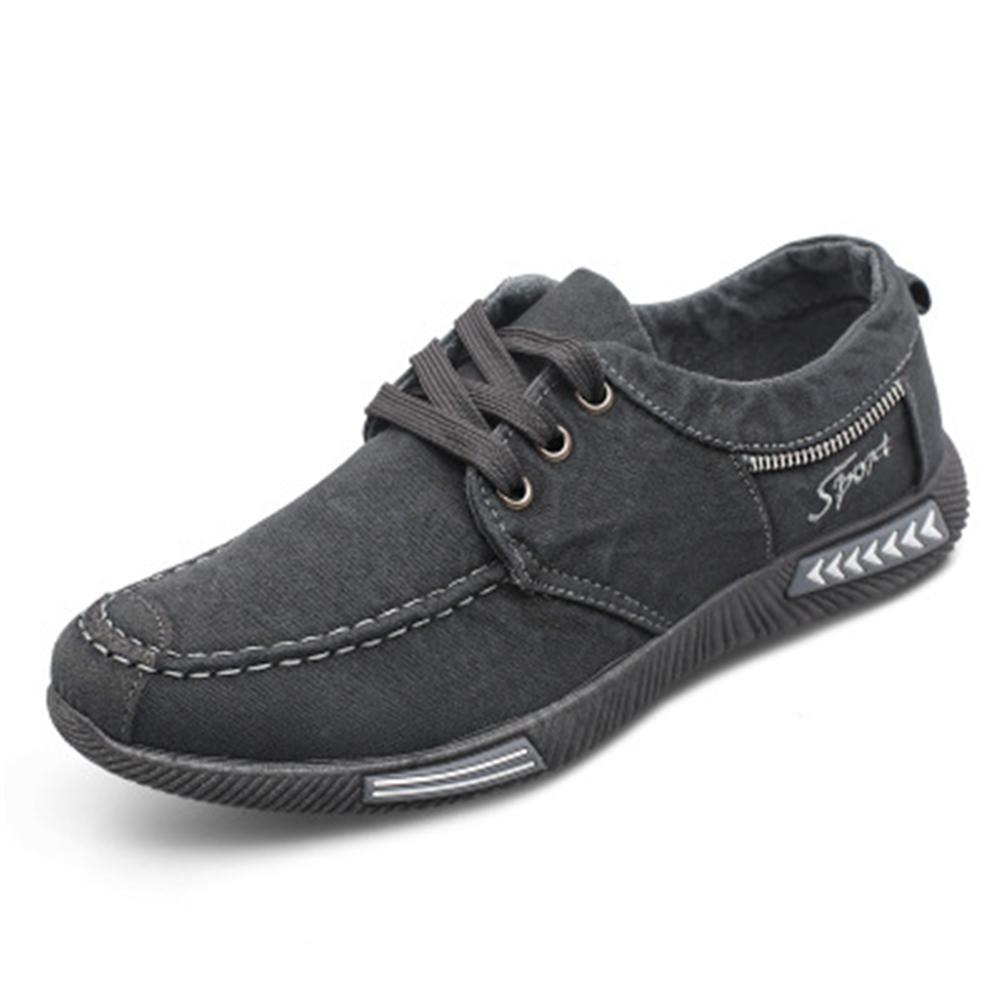 LAISUMK 2019 New Canvas Men Shoes Denim Lace-Up Men Casual Shoes Plimsolls Breathable Male Footwear Spring Autumn