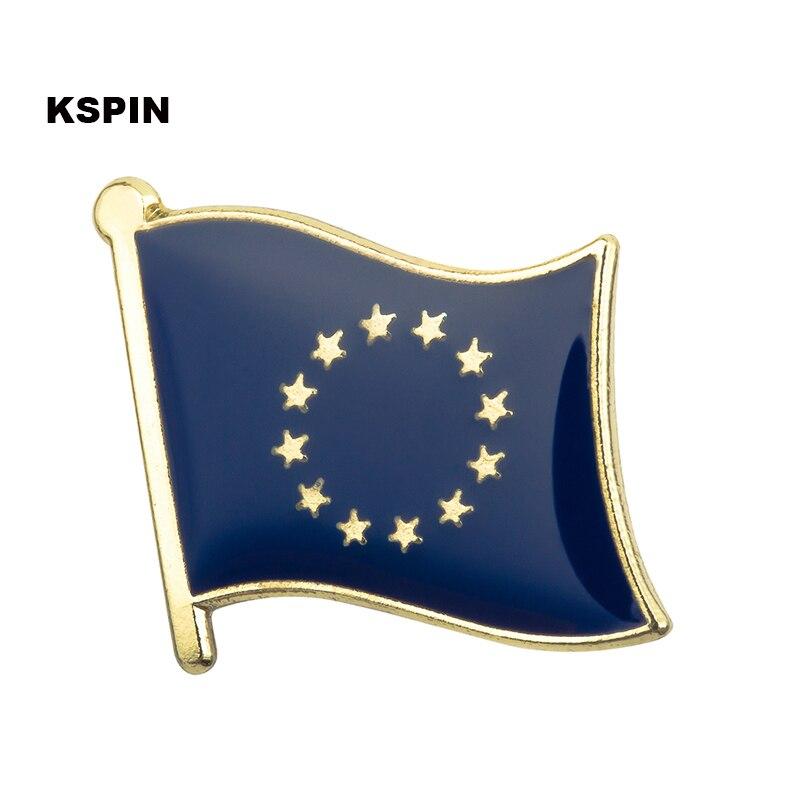Juego de 3 x Insignias de Pines de Metal de la Bandera de la Uni/ón Europea 19 mm x 15 mm