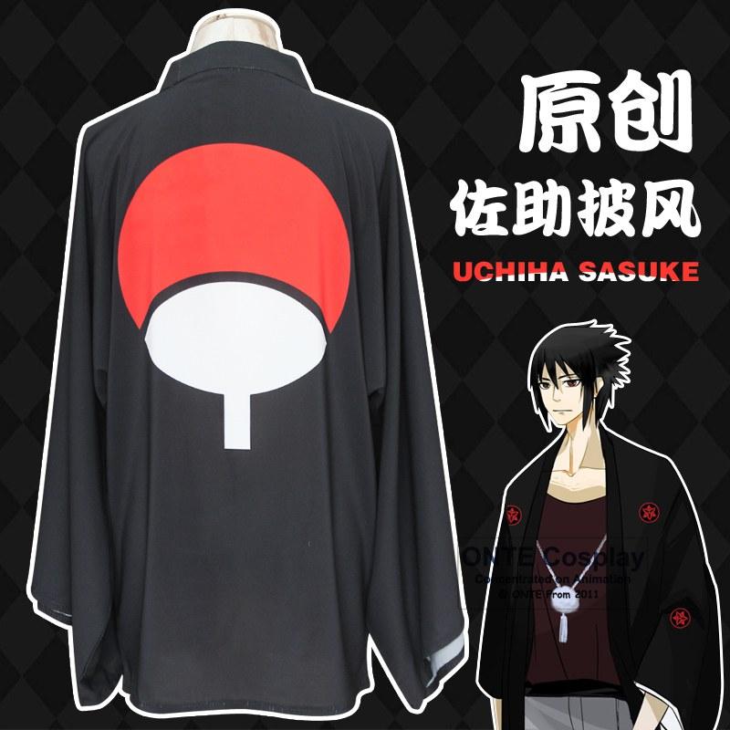 Uchiha Itachi Sasuke Çimərliklər Şifon pijama paltarları Naruto Sharingan Cosplay Kostyumları Unisex Təsadüfi Palto Geyimləri