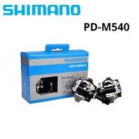 SHIMANO PD M540 Бесклипсова СПД педали MTB велосипеда часть черный Велоспорт самоблокирующимся педаль SPD PD-M540 с SH51 бутсы