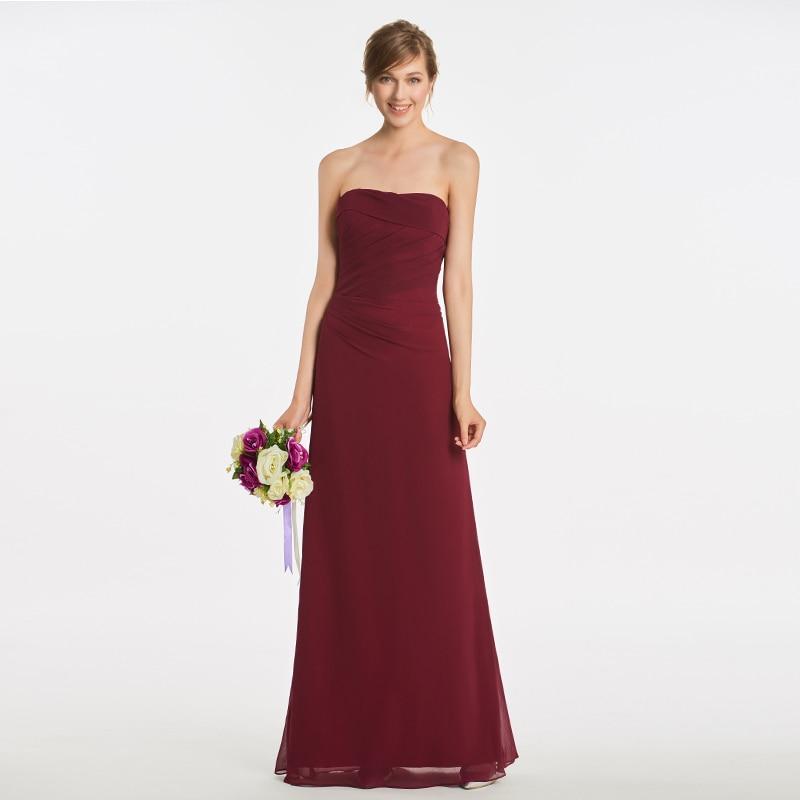Tanpell strapless long   bridesmaid     dresses   dark brown sleeveless floor length sheath gown women wedding party   bridesmaid     dress