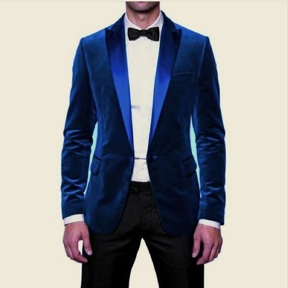 High Quality Mens Blue Velvet Blazer-Buy Cheap Mens Blue Velvet ...