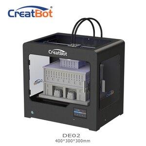 CreatBot 3d printer DE02 Build Size 400*300*300 mm Dual Extruders Metal Frame 3d printer parts for sale 2KG abs for free