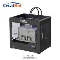 CreatBot 3d принтер DE02 размер сборки 400*300*300 мм двойной экструдер металлическая рама 3d принтер запчасти для продажи 2 кг abs бесплатно