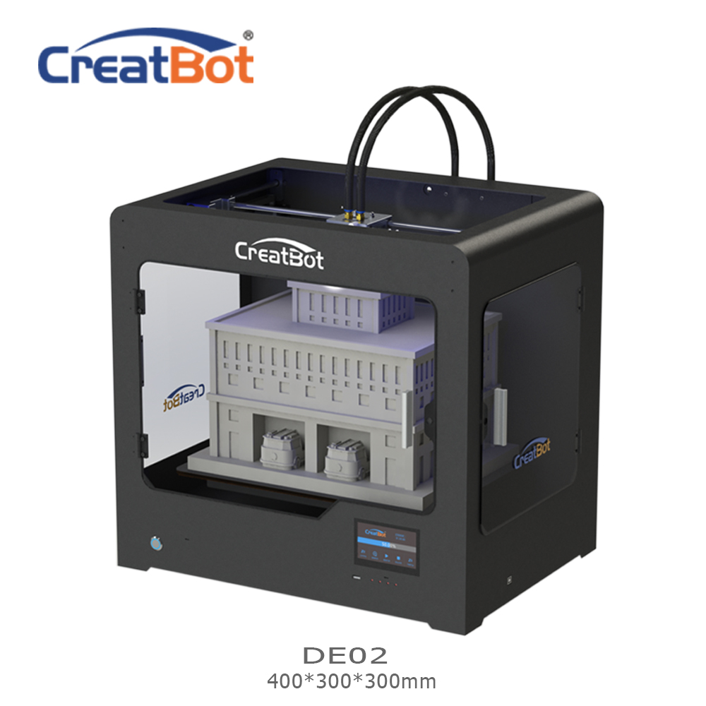 CreatBot 3d printer DE02 Build Size 400*300*300 mm Dual Extruders Metal  Frame 3d printer parts for sale 2KG abs for free-in 3D Printers from  Computer