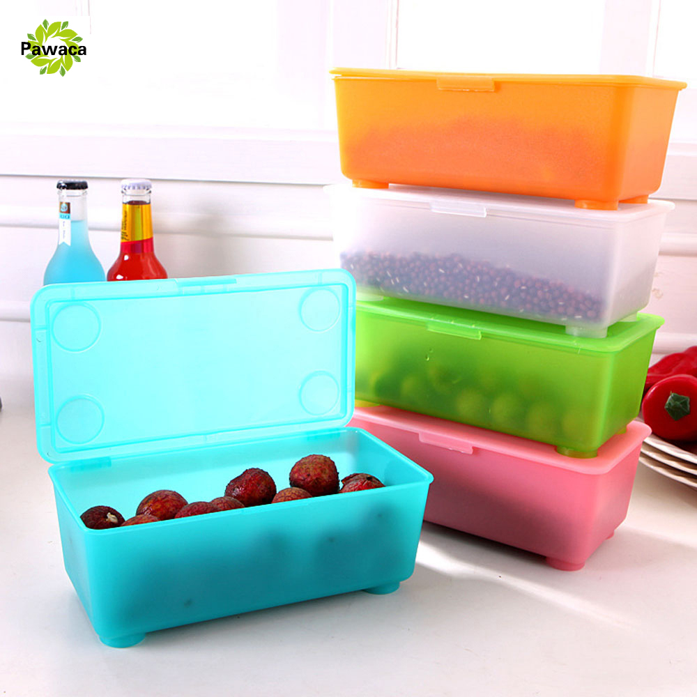New Creative Multi Frosted Plastic Kitchen Refrigerator Storage Box Food Container Sundries Jewelry Cosmetic Makeup Storage case