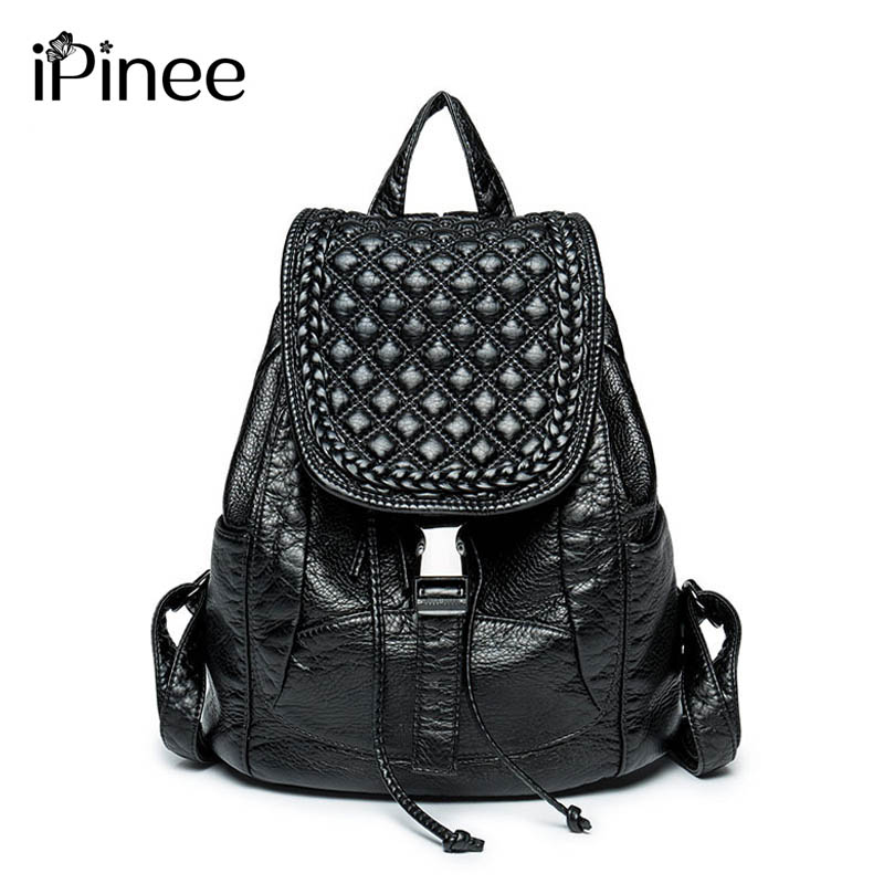 Backpack Women Wash Leather Bag Women Bag  Women Backpack Mochila Feminina School Bags for Teenagers miwind new backpack women school bags for teenagers mochila feminina women bag free shipping leather bags women leather backpack