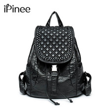 Рюкзак женщины мыть кожаная сумка женщин сумка рюкзак Mochila Feminina школьные сумки для подростков