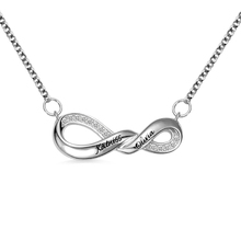 AILIN Personalized Infinity Necklace Mother Gift Sterling Silver For Mothers Day