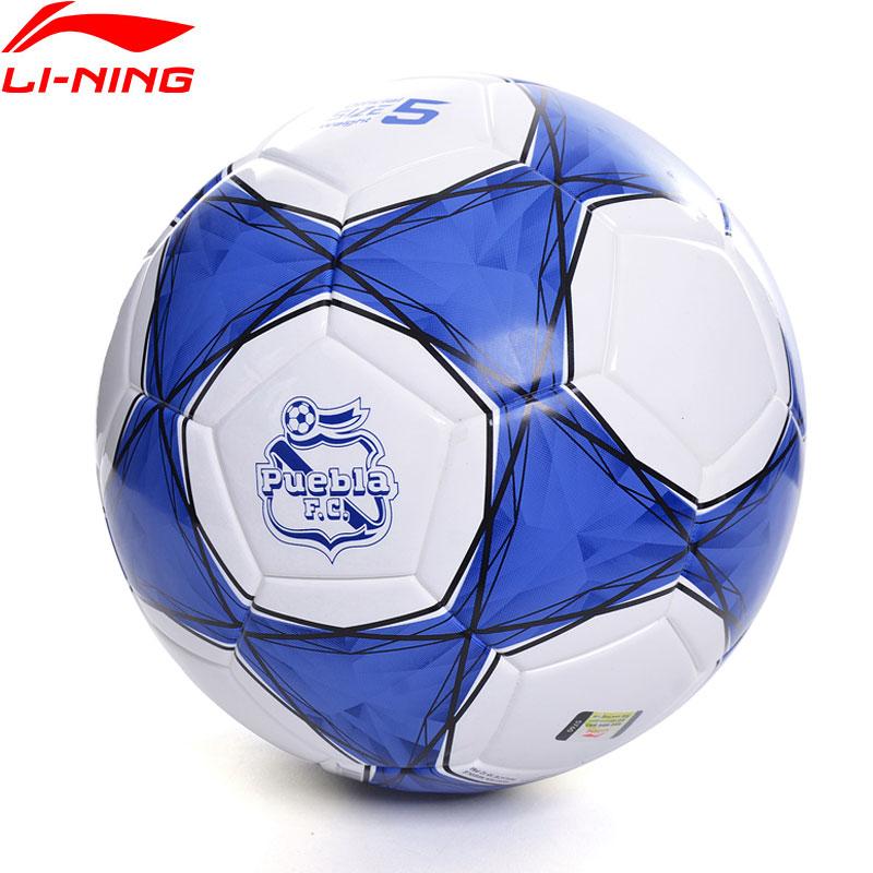 Li-Ning Puebla Club Professional Soccer T800 Official Size 5 PVC Training Football LiNing li ning Sports Soccers AFQN014 ZYF236