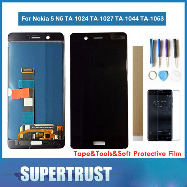 <font><b>5</b></font>.2inch For <font><b>Nokia</b></font> <font><b>5</b></font> N5 TA-1024 TA-1027 TA-1044 TA-<font><b>1053</b></font> TA-1008 LCD Display+Touch <font><b>Screen</b></font> Digitizer Assembly Black Color With Kit image