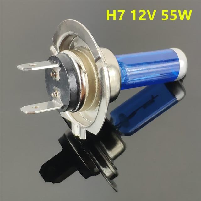 Luz de coche H1 H3 H4 H7 H8 H9 H11 9005 HB3 9006 HB4 bombilla halógena de coche luces de niebla 55W 100W 12V lámpara de faros súper blancos