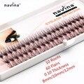 Navina 10 Flairs Falso maquiagem cílios cílios 60 Mink indivíduo cílios naturais Falso Extensão dos cílios