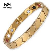 WelMag Healing FIR Magnetic Titanium Bracelets Bangles Fashion Bio Energy Germanium Bracelet Healthy Jewelry For Men