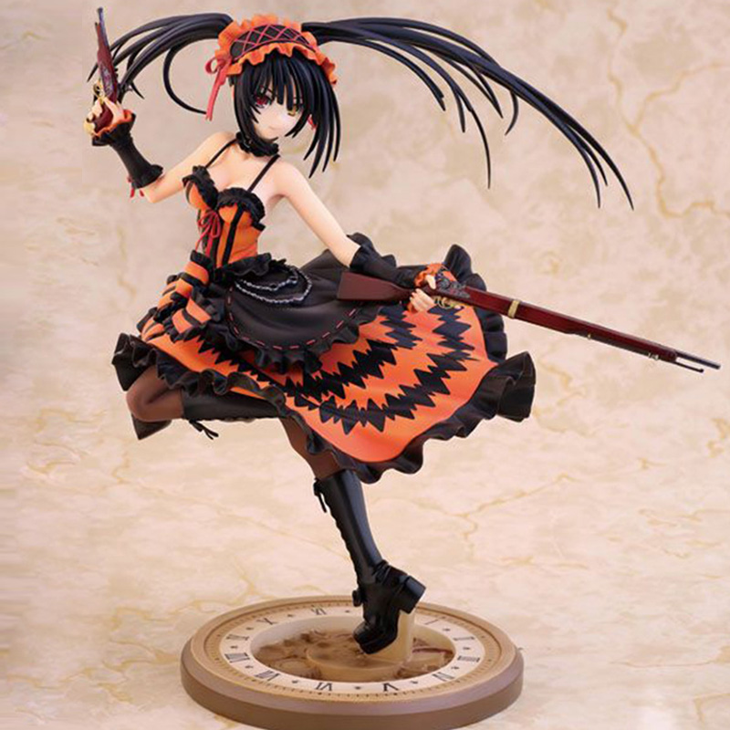 ZXZ Anime Model Dolls Japanese Anime Griffon DATE A LIVE Tokisaki Kurumi Action Figure Collectible Toy  Model  Kid Gift Toy ikon 2016 ikoncert showtime tour in seoul live release date 2016 05 04 kpop