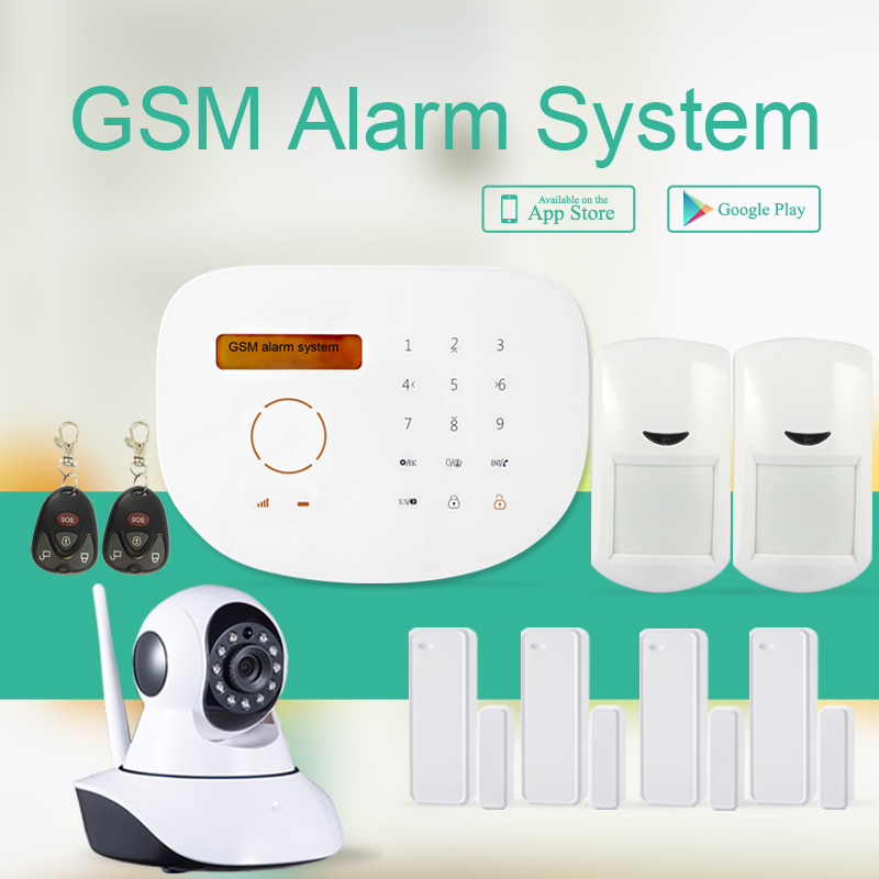 433mhz Manual security gsm alarm system work with wifi ip camera touch panel multi-language GSM smart home burglar alarm купить в Москве 2019