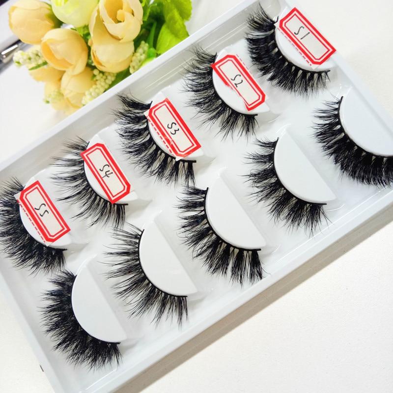 3d Mink lashes Thick real mink false eyelashes natural for Beauty Makeup Extension fake Eyelashes false lashes