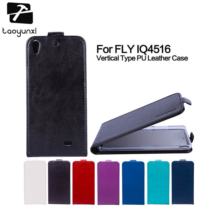 TAOYUNXI Flip Cover For Fly IQ4516 IQ4503 quad EVO Tech 4 tech4 Gionee Elife S5.1/GN9005 quad Era Life 6 Case PU Leather