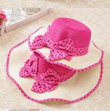 new arrival handmade girls summer hats beach hats for girl parent child sun hats summer hats
