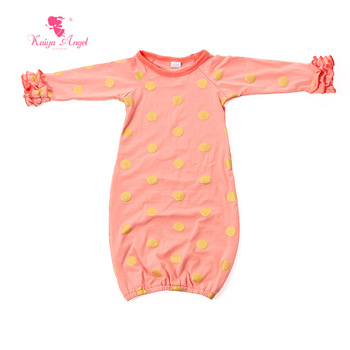 Kaiya Angel 2017 sleeping bag sleeping bag spring fall cute baby sleeping bag baby Peach god dot ruffles sleeve 0-24 M