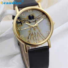 Reloj 2017 New Design Sizzling Sale Girls Trend Retro Model Dial Leather-based Band Quartz Wrist Watches Dropshipping 17Jan9