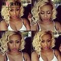 BQ PELO #613 Blonde Onda Del Cuerpo Del Pelo Virginal Peruano 360 Frontal con Haces 2/3 pcs Weave Ombre hair Extensions Grado 8A Peruca