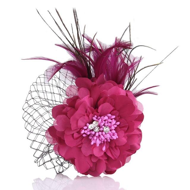 Чиан Ю Богемия Broochs высокое качество Fbabric цветок броши шпильки с перьями для женщин украшения для волос зажимы для волос