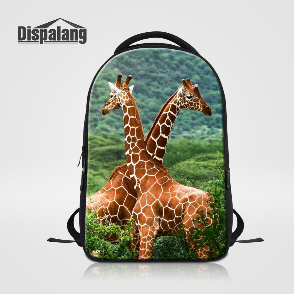 Dispalang Giraffe Printed Women Laptop Backpack Casual College Bookbag Mens Stylish Daily Travel Backpacks Large School Bag chic canvas leather british europe student shopping retro school book college laptop everyday travel daily middle size backpack