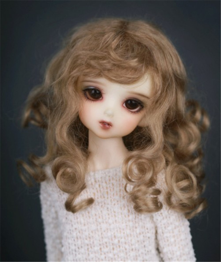 Princess Mohair Wigs for Dolls Newest BJD Doll Hair High Quality long Curly Doll Headwear Hot Sale Online 053 1 3 1 4 bjd wigs hot sell bjd sd short curly wig for diy dollfie mohair like