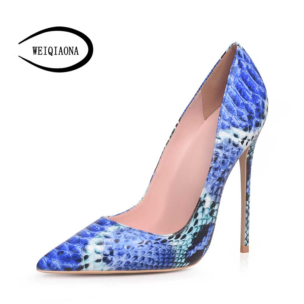 WEIQIAONA 2019 Occident vogue sexy snake pattern single shoes woman high heels girl fashion pumps mouth pumps sexy party shoesWEIQIAONA 2019 Occident vogue sexy snake pattern single shoes woman high heels girl fashion pumps mouth pumps sexy party shoes
