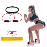 Leg Elastic Band For Fitness Women Booty Butt Resistance Bands Adjustable Waist Belt Pedal Exerciser for Glutes Muscle Workout