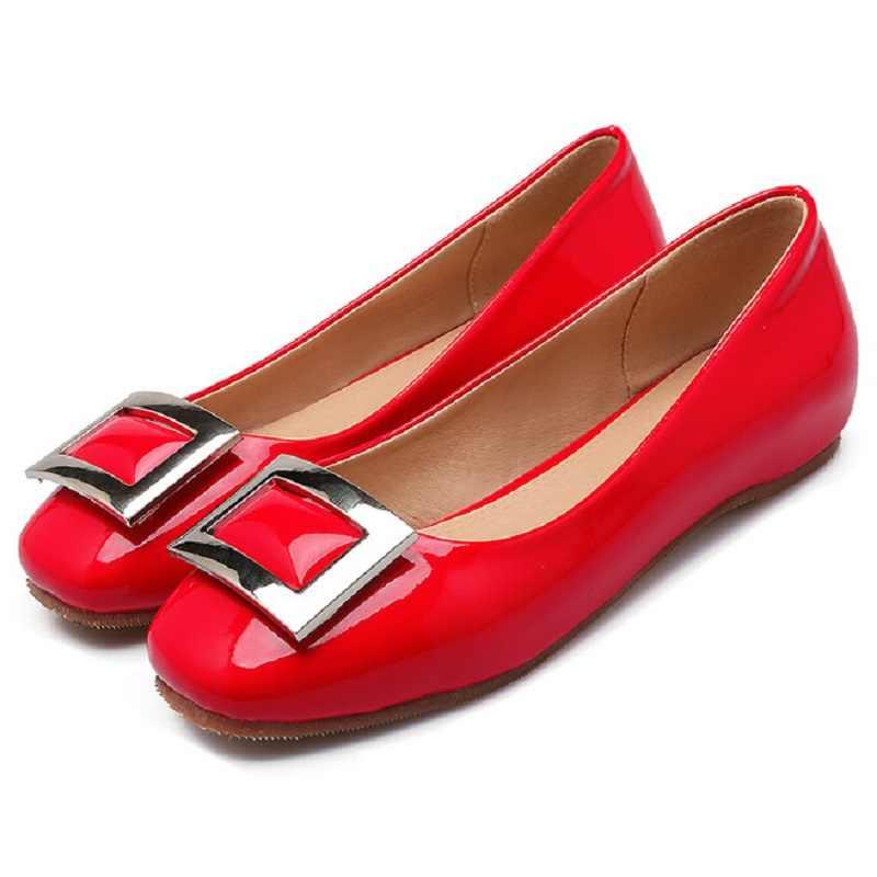Black Red Grey Designer Flats Shoes