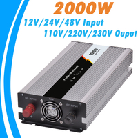 2000W Pure Sine Wave Off Grid Tie Inverter Optional 12V 24V 48V DC Input And 110V