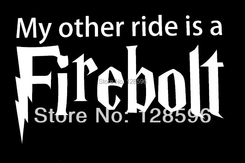My Other Ride Is A Firebolt sticker decal car vinyl Harry Potter Broom