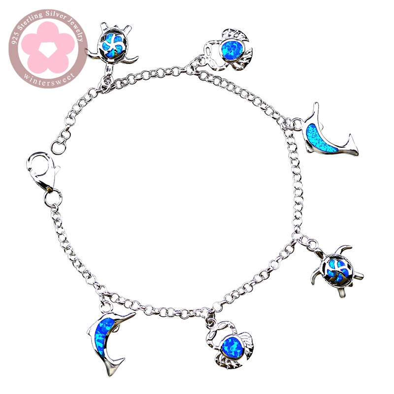 real bracelet desiretreasures hawaiian si plumerial sterling stones opal blue lid stores silver w item authe plumeria authentic