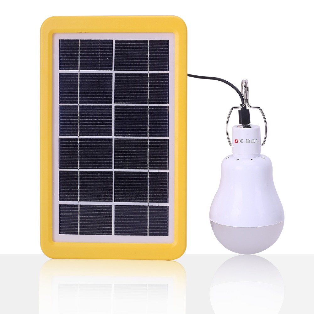 kkbol solar light bulb portable solar powered lamps night light for
