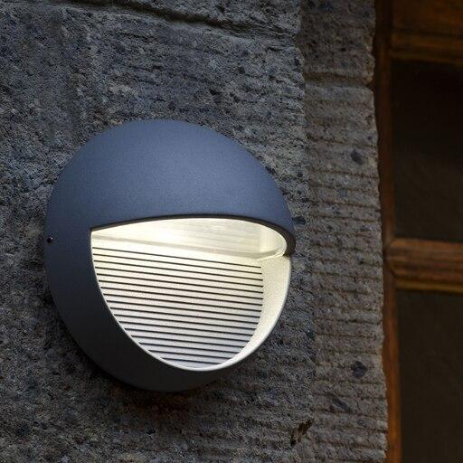 Modern outdoor sconces Aluminum Dark Grey Diameter 160*100mm 90~260v Led wall Lighting Waterproof High Quality led телевизор dexp h32c7200k dark grey