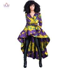2017 Primavera Mulheres Top Tradicional Dashiki Africano Cera de Impressão Elegante Riche África Roupas para Senhoras Trincheira WY1397