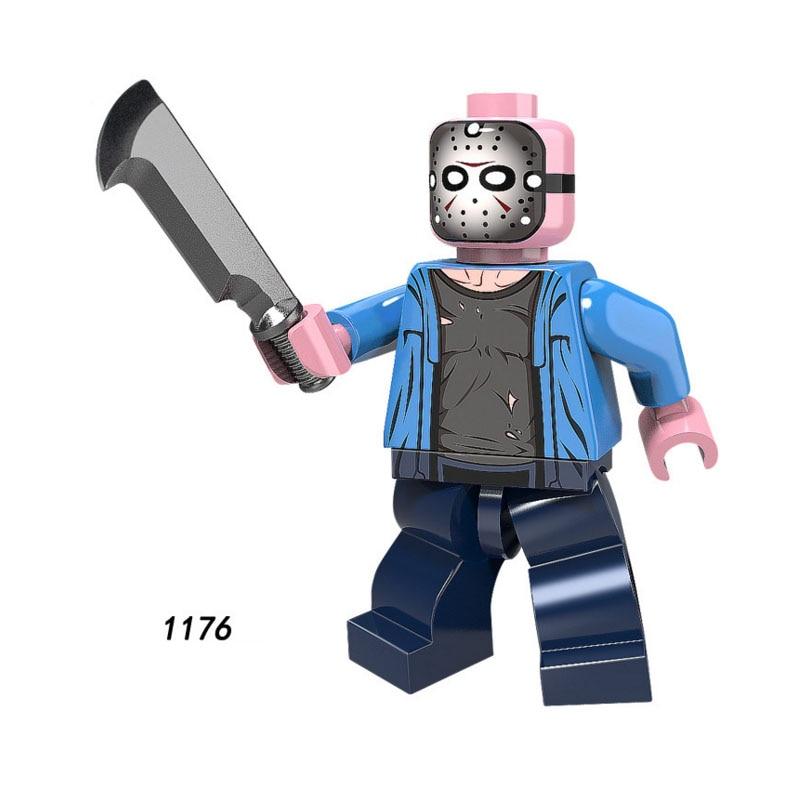 Single Sale Super Heroes Star Wars 1176 Jason Voorhees Building Blocks Figure Bricks Toys Kids Gifts Compatible Legoed Ninjaed