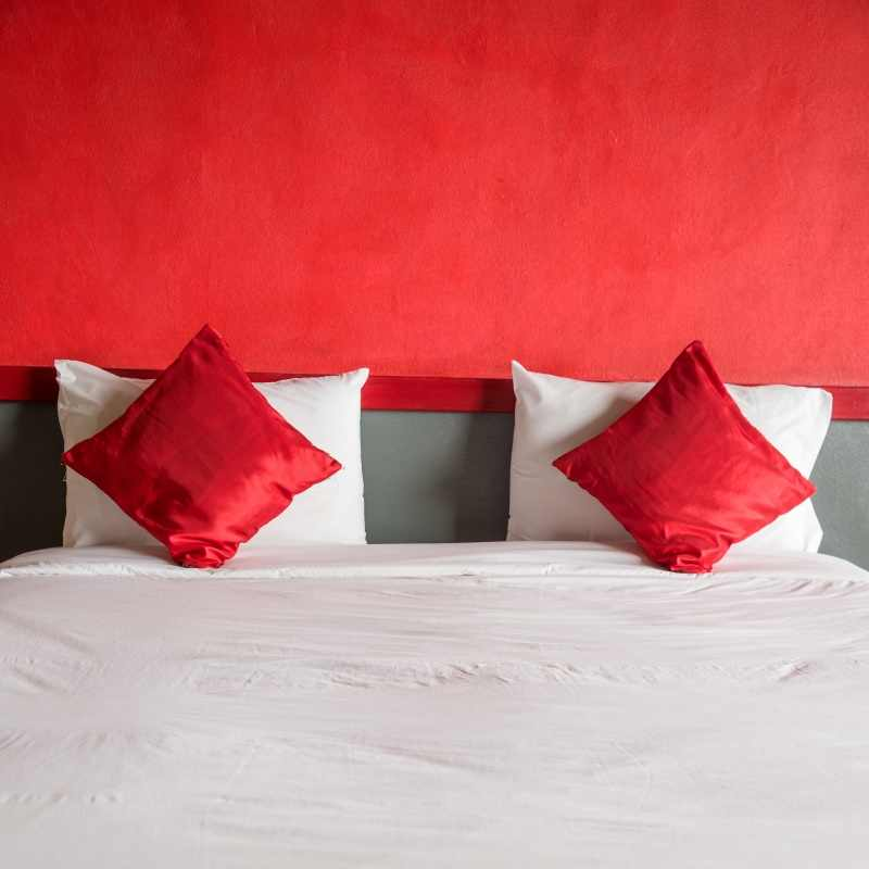 laeacco photo backgrounds headboard red boudoir bedroom pillow valentine s day baby interior photography backdrops photo studio
