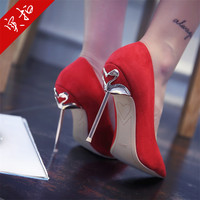 2017 Fashion Thin Heels Spring Autumn Shallow Shoes Woman Fashion Pointed Toe Shoes Women Pumps Spring