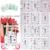 BeautyNailArt 90 hoja/LOT Glitter 3D etiqueta engomada del clavo de Plata de la Navidad diseño tip engomada del arte del clavo Para El arte del clavo