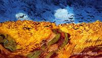 modern art oil paintings Wheatfield with Crows Vincent Van Gogh Reproduction canvas Hand painted High quality
