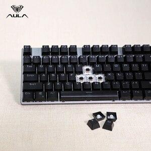 Image 5 - AULA F2068 104 Toetsen Macro Backlit Mechanische Toetsenbord Computer Gamer LED Backlight Gaming Toetsenborden Russische Sticker Blauwe Schakelaar