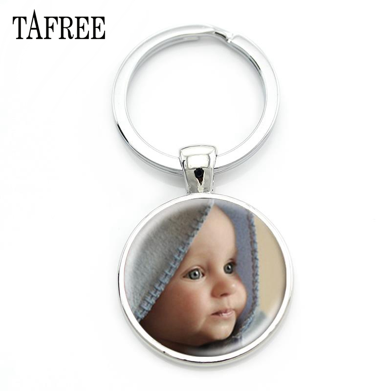 TAFREE Personality Custom Family Photo Keychain Handmade Baby Child Dad Mom Brother Sister Portrait Private Made NA01