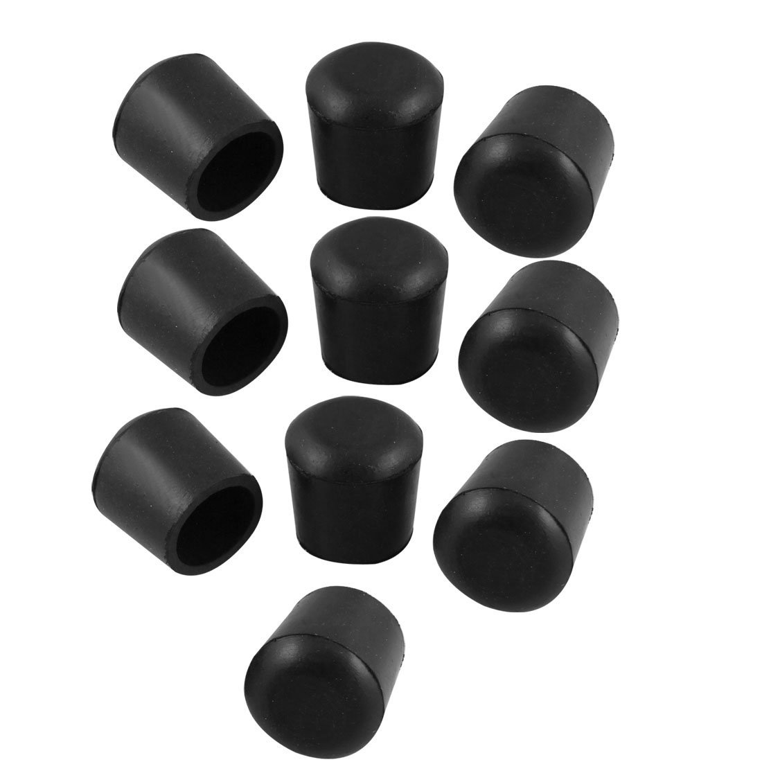 NOCM Black 10 Pcs 25mm Cone Shaped Dia Furniture Table Chair Rubber Foot Pads Free Shipping