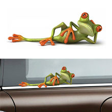 2 Types Funny Frog Car Stickers 3D Stereo Truck Window Decal Graphics Sticker Automotive Interior Stickers(China)