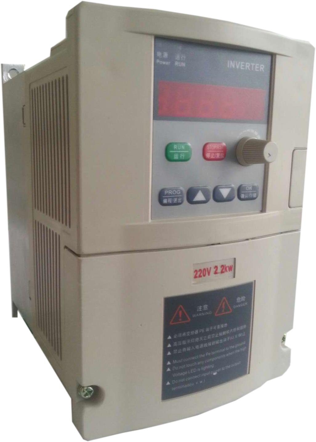 Single phase frequency converter 2.2kw 220v three-phase motor warranty 18 delta three phase general frequency converter 2 2kw 380v three phase motor warranty 18 delta